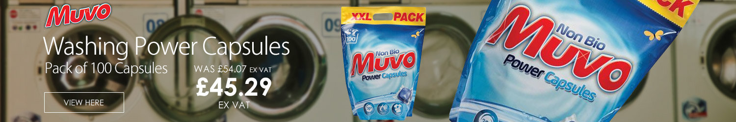 Muvo Non Biological Washing Power Capsules Pack of 100 Capsules 124437