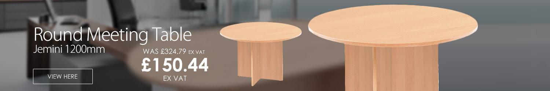 Jemini 1200mm Round Meeting Table Beech KF71952