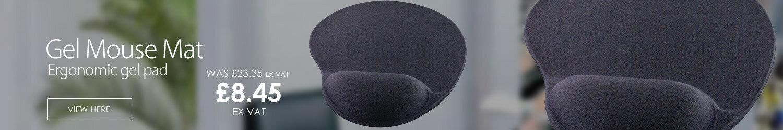 Q-Connect Gel Mouse Mat Black