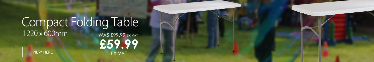 Compact Folding Table 1220 x 600mm Grey