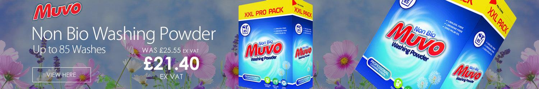 Muvo Washing Powder Non Bio Large Box 85 Washes 5.52kg