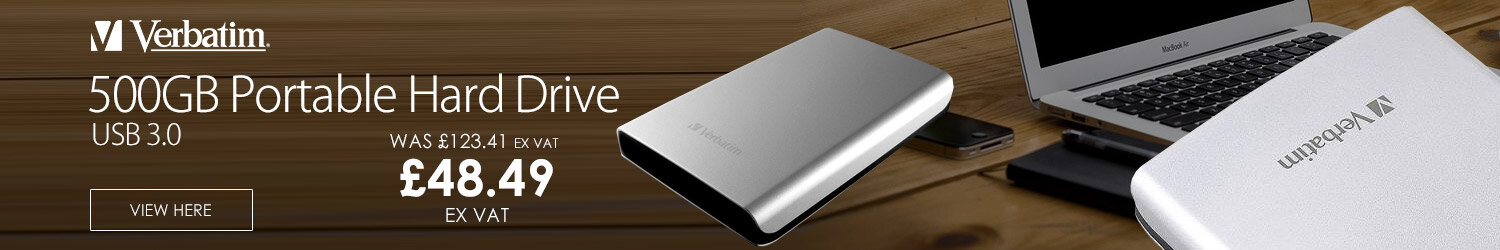 Verbatim 500GB USB 3.0 Portable Hard Drive Silver