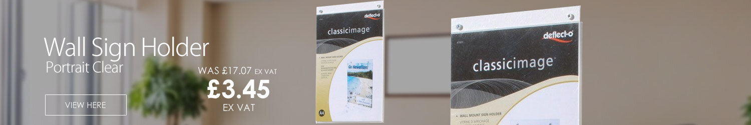 A4 Wall Sign Holder Portrait Clear Deflecto Ref 47001