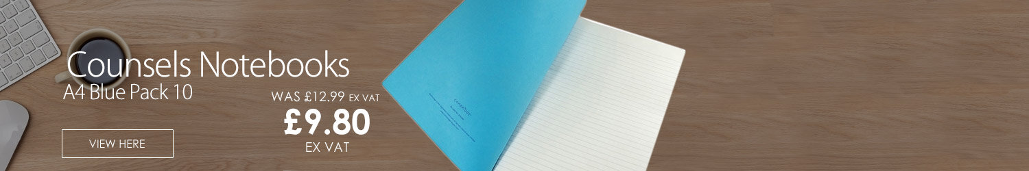 Cambridge Counsels Notebooks A4 Blue K76303 Pack 10
