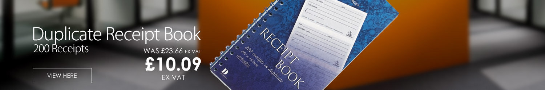 Duplicate Receipt Book Wirebound 4 Sets p/Page(Challenge)200 Receipts 280x152mm M71990