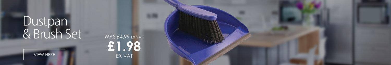 Bentley Dustpan and Brush Set Blue 8011/B