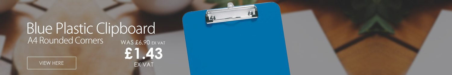 A4 Blue Plastic Clipboard Rounded Corners 5 Star