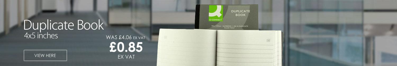 Q-Connect Duplicate Book 4x5 inches (102x127mm) Ruled Feint KF04094