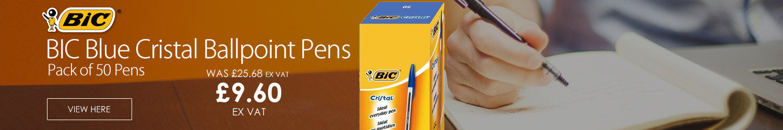 BIC Blue Cristal Ballpoint Pens Pack 50