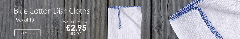 Dish Cloths Cotton Stockinette Dishcloths Blue [Pack 10]