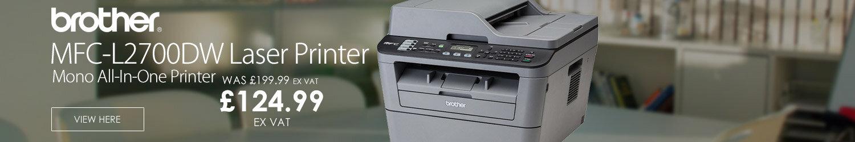 Brother MFC-L2700DW All-in-One Mono Laser Printer Fax Wi-Fi Duplex