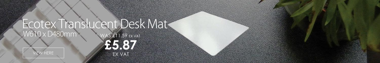 Ecotex Translucent Desk Mat W610 x D480mm