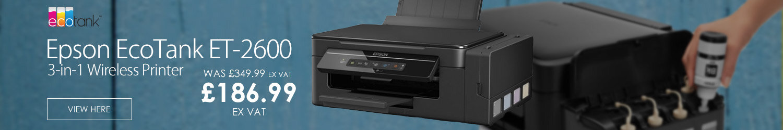 Epson EcoTank ET-2600 3-in-1 Wireless Multifunction Colour Printer