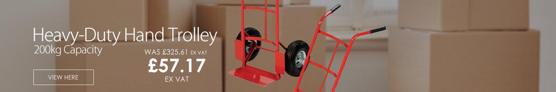 Hand Trolley Heavy-Duty Capacity 200kg Red RelX