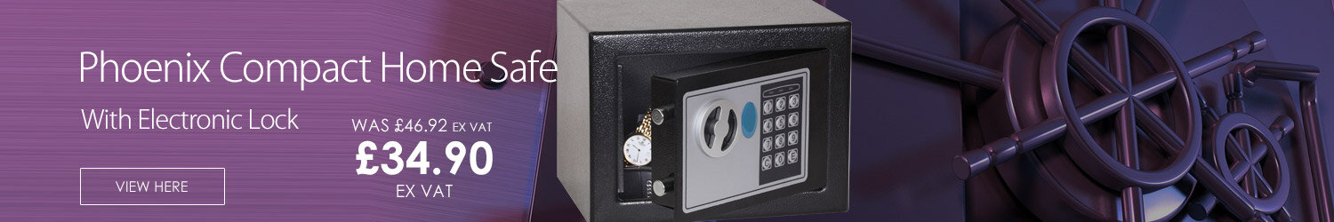 Phoenix Compact Home Safe with Electronic Lock With Key Black Capacity 4L