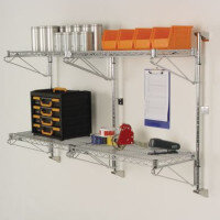 Wall Mounted Chrome Wire Shelving