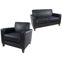 Executive Leather Look Armchairs & Sofas
