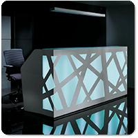 Illuminated Reception Desks