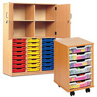 School Storage Trolleys & Trays