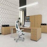 Trexus Oak Cantilever Desking & Office Furniture Range
