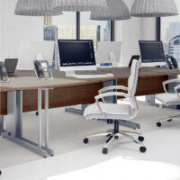 Trexus Walnut Cable Managed Desking & Office Furniture Range