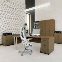 Trexus Walnut Cantilever Desking & Office Furniture Range