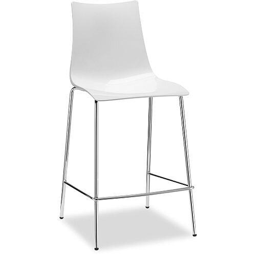 Super Zebra Antishock Bar Stool With H650Mm Chrome Base Glossy White Set Of 2 Pdpeps Interior Chair Design Pdpepsorg