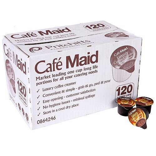 Cafe Maid Luxury Coffee Creamer Pots 12ml Long Life Pack Of 120