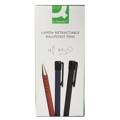 Q-Connect Lamda Ball Point Pen KF00672 Pack of 12 12 Black Black