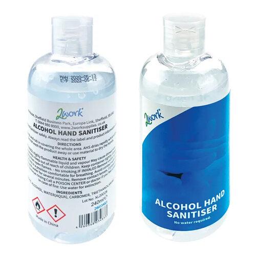2Work 74% Alcohol Gel Hand Sanitiser 100ml