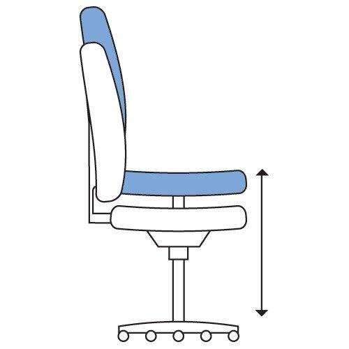Executive High Back Mesh OP Office Chair White Frame - Stylish Design & Great Comfort - 2 Year Warranty Additional Image 6