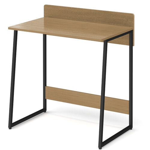 Kyoto Home Office Workstation With Upstand - Summer Oak With Black Frame Additional Image 2