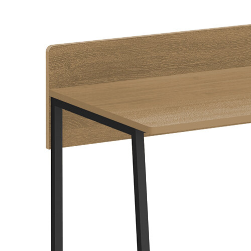 Kyoto Home Office Workstation With Upstand - Summer Oak With Black Frame Additional Image 3