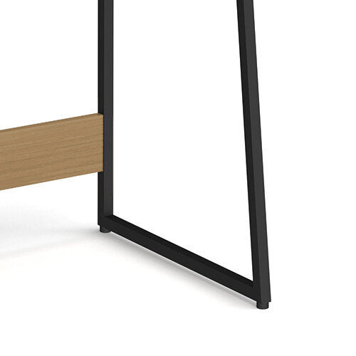Kyoto Home Office Workstation With Upstand - Summer Oak With Black Frame Additional Image 4