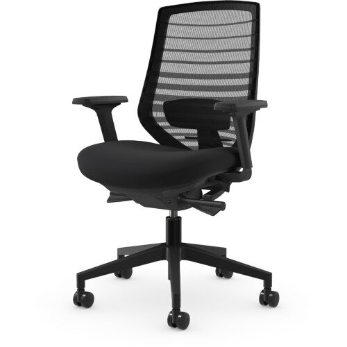 X.77 Office Operator Chair with Mesh Back And Adjustable Lumbar Support Black Additional Image 1