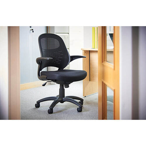 Orion mesh back operators chair - black Additional Image 3