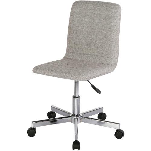 Riff Medium Back Operators Chair Fabric Seat Chrome Base Grey Additional Image 1