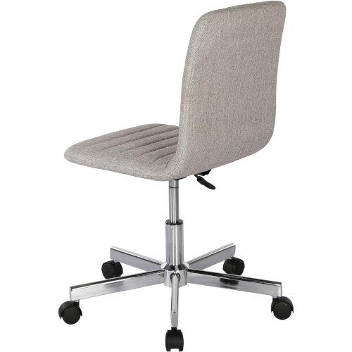 Riff Medium Back Operators Chair Fabric Seat Chrome Base Grey Additional Image 3
