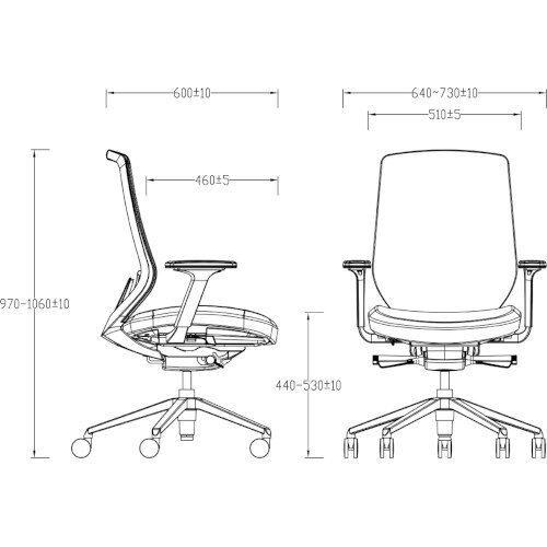 X.77 Office Operator Chair with Mesh Back And Adjustable Lumbar Support Black Additional Image 3