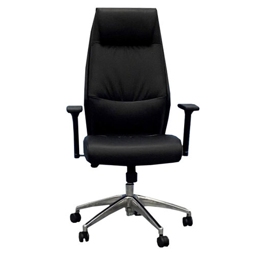 Executive High Back Faux Leather Office Chair with Pivoting Height Adjustable Arms Additional Image 1