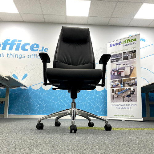 Executive High Back Faux Leather Office Chair with Pivoting Height Adjustable Arms Additional Image 3