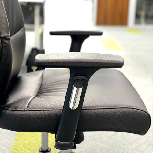 Executive High Back Faux Leather Office Chair with Pivoting Height Adjustable Arms Additional Image 4
