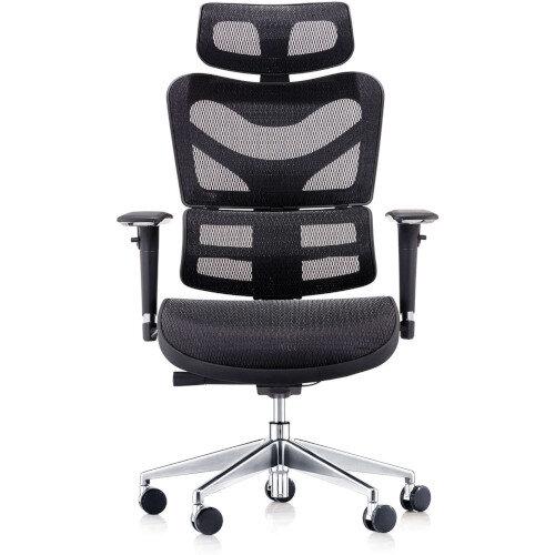 Dorsum Executive Ergonomic Mesh Chair with Headrest Black Additional Image 1