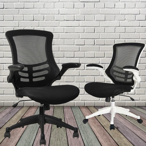 Executive High Back Mesh Office Chair in Black with Armrests and Adjustable Seat - 2 Year Warranty! Additional Image 4