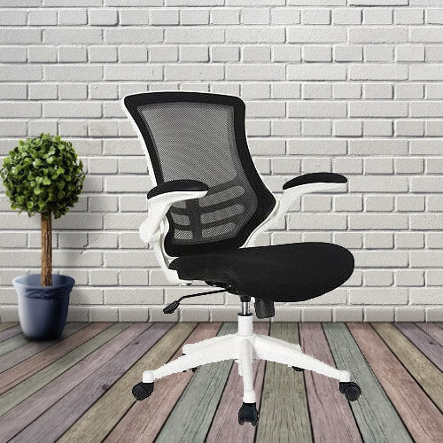 Executive High Back Mesh OP Office Chair White Frame - Stylish Design & Great Comfort - 2 Year Warranty Additional Image 2