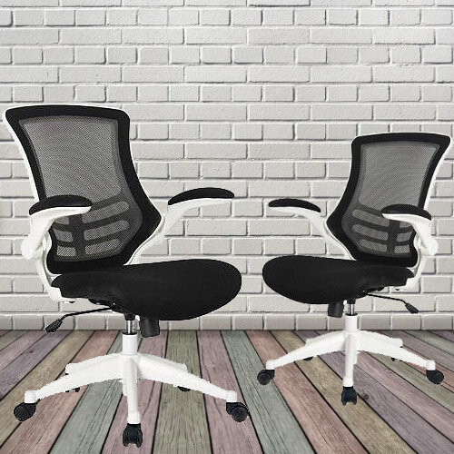 Executive High Back Mesh OP Office Chair White Frame - Stylish Design & Great Comfort - 2 Year Warranty Additional Image 3