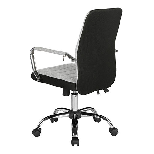 Tempo High Back Fabric Operators Chair With Mesh Trim - Grey Additional Image 1