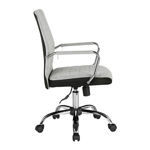 Tempo High Back Fabric Operators Chair With Mesh Trim - Grey Additional Image 2