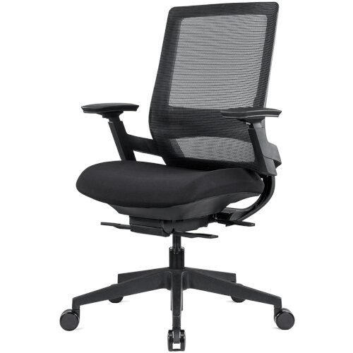 Ergonomic Mesh Office Chair with Adjustable Lumbar Support & Arms Black Additional Image 1