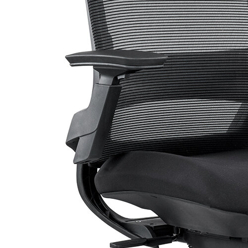 Ergonomic Mesh Office Chair with Adjustable Lumbar Support & Arms Black Additional Image 4